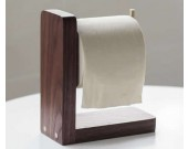 Black Walnut Wooden Toilet Paper Roll Holder