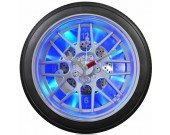 "14"" Blue LED Tire Wall Clock,Desk Clock"