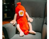 Cartoon Sausage Plush Doll Back Cushion
