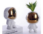 Ceramic  Astronauts Sculpture Home Decor Vase