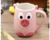 Ceramic Pig Mug,Pink
