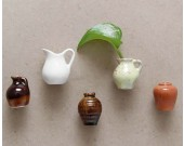 Ceramic Vase Fridge Magnets, Set of 6