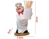 Chef Toothpick Holder Basket