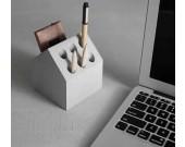 Concrete House Shaped Pen Holder Cell Phone Holder