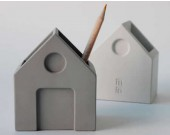 Concrete  House Shaped Pen Holder