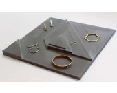 Concrete Jewelry Ring Display Tray Necklace Showcase Storage Holder Organizer