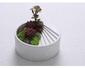 Concrete Flower pot Paperclip Holder Desk Accessory