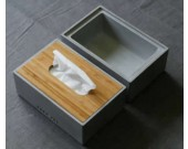 Concrete Tissue Box Storage Box Desk Organizer