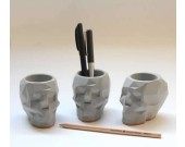 Concrete Transformers  Figurine Pen Holder/Desk Storage Organizer/ Flower Pot