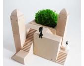 DIY  Castle  Building Concrete Block   Desktop Decoration