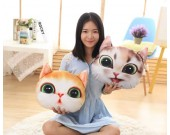 Cat Head Shape Pillow Back Cushion