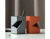 Creative Art Notched Square Concrete Pen Holder