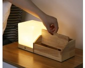 Creative Desktop Wooden Storage Box With Night Light Function
