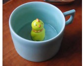Cute Chicken Figurine Ceramic Coffee Cup