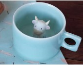 Cute Cow Figurine Ceramic Coffee Cup
