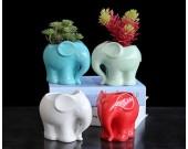 Cute Elephant Ceramic Succulent Planter Flower Pot