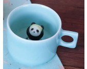 Cute Panda Figurine Ceramic Coffee Cup