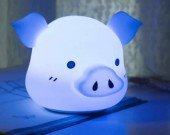 Cute Pig USB Rechargeable Children Night Light