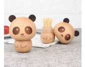 Cute Wooden Panda&Ice cream Toothpick Holder