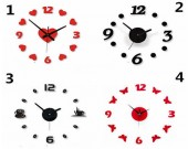 DIY Adhesive Modern Room Decoration Numbers Wall Clock