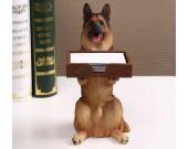 Dog Desk Business Card Holder