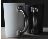Porcelain Door Handle  Coffee Mug