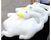 Duck Throw Pillow Back Cushion Pillow,White