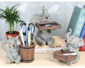 Elephant  Desk Decoration Pencil Holder,Business Card Holder,Ashtray for Office