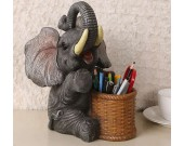 Elephant Pen Pencil Holder Desk Organizer