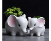 Elephant Ceramic Succulent Planter/Plant Pot/Flower Pot,Set of 2