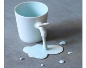 Porcelain Coffee Mug with Faucet Handle