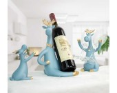 Figurine Decorative Deer Tabletop Statue Decor Wine Bottle Holder Wine Glass Holder