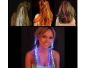 5PCS Flash Fiber  Optical Hair Braids