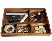 Wooden Drawer Tray Desk Stationery Organizer Storage Box Business Card Holder Key Container