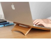 Foldable and Portable Bamboo Laptop Stand for  Apple MacBook & PC Laptop