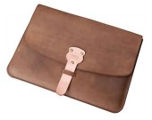 Genuine Leather Envelope Laptop Sleeve Bag for MacBook pro /Air 13.3 Inc