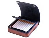 Genuine Leather&Wooden Cigarette Case