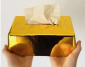 Gold Bullion Bar  Tissue Box