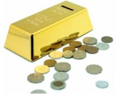 Gold Bullion Piggy Bank