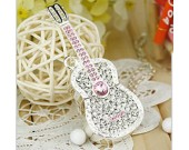 16G Guitar Shaped Faux Diamond Usb Flash Drive