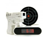 White Gun O'Clock Shooting Alarm Clock