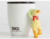 Porcelain Coffee Mug with 3D  Animal  Handle