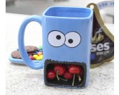 Hand Painted  Monster Cookie Holder Coffee Mug