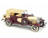 Handmade Antique Model Kit Car-1934 Duesenberg Classic Car Red