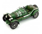 Handmade Antique Model Kit Car 1934 MG K3 Magnette Race Car
