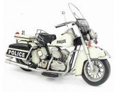 Handmade Antique Model Kit Motorcycle-1978 Harley Police Motorcycle