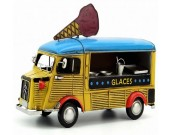 Handmade Antique Model Kit Car - Citroen Ice Cream Truck