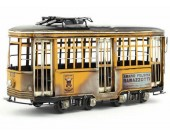 Handmade Antique Model Kit Car- Italy tramway bus