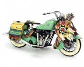 Handmade Antique Model Kit Motorcycle-1953 Harley Motorcycle