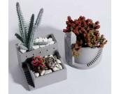 Handmade Concrete Architectural Style Succulent Planter